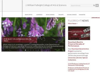 fulbright.uark.edu screenshot