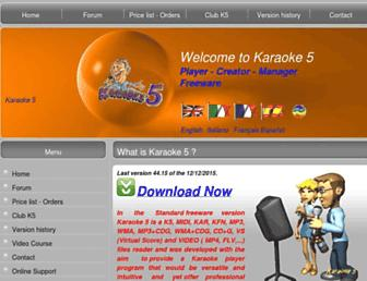 karaoke5.com screenshot