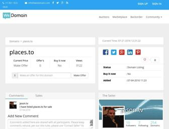 Main page screenshot of places.to