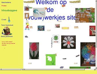 Main page screenshot of vouwwerkjes.nl