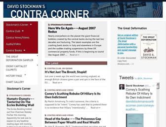 Thumbshot of Davidstockmanscontracorner.com