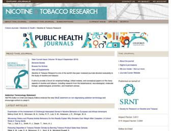 Main page screenshot of ntr.oxfordjournals.org
