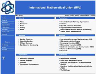mathunion.org screenshot