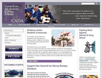 Main page screenshot of cadasb.org