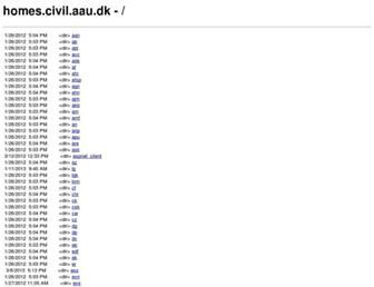 homes.civil.aau.dk screenshot
