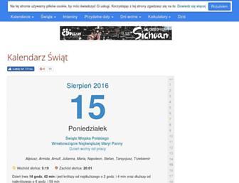 Thumbshot of Kalendarzswiat.pl