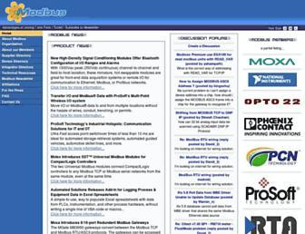 modbus.org screenshot