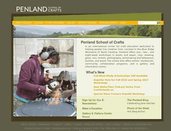 Main page screenshot of penland.org