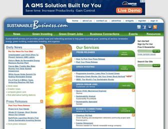 sustainablebusiness.com screenshot