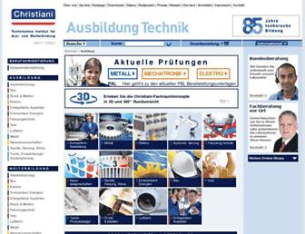 Main page screenshot of christiani.de