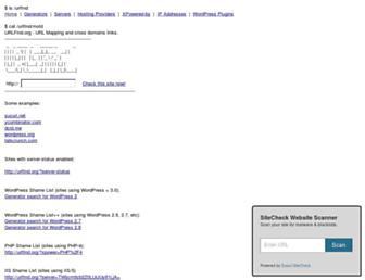 urlfind.org screenshot
