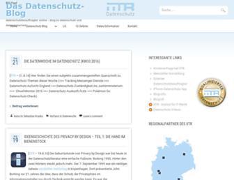 Main page screenshot of datenschutzbeauftragter-online.de