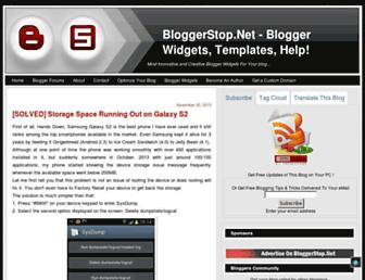 bloggerstop.net screenshot