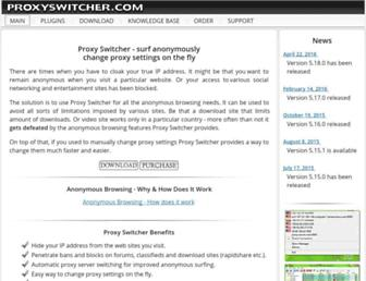 proxyswitcher.com screenshot