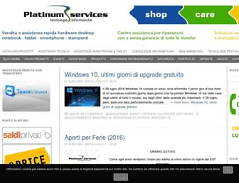 Main page screenshot of platinum-services.it