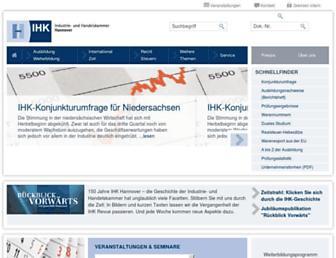 hannover.ihk.de screenshot