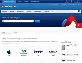 devicesupport.swisscom.ch screenshot