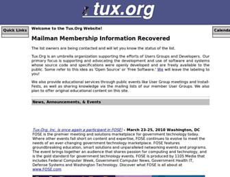 tux.org screenshot