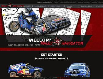 rallynavigator.com screenshot