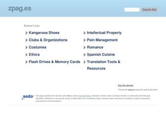 Main page screenshot of zpag.es