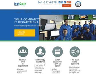 netgainit.com screenshot