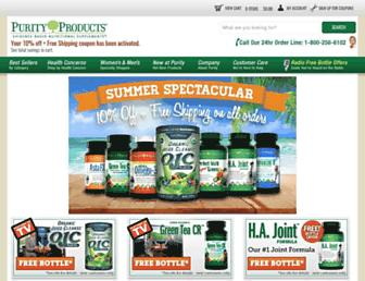 purityproducts.com screenshot