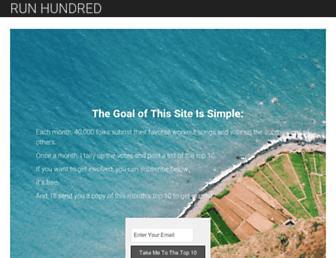 runhundred.com screenshot