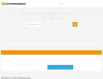 Thumbshot of Gutscheinsammler.de