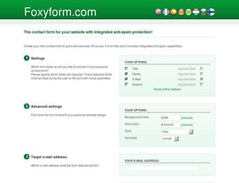 Thumbshot of Foxyform.com
