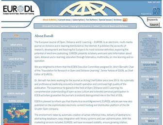 Main page screenshot of eurodl.org