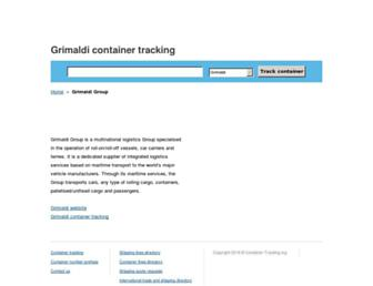 grimaldi.container-tracking.org screenshot