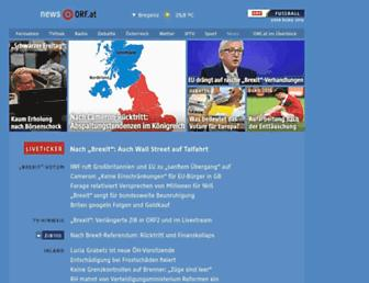 Main page screenshot of orf.at