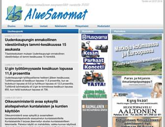 Main page screenshot of aluesanomat.fi