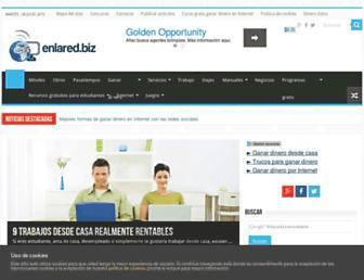 Main page screenshot of enlared.biz