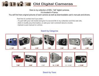 old-digitalcameras.com screenshot
