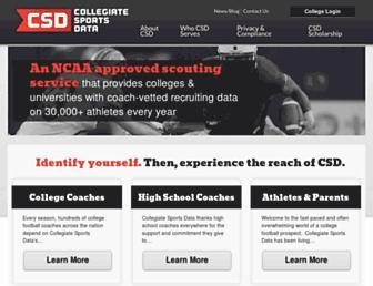 collegiatesportsdata.com screenshot