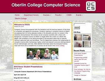 cs.oberlin.edu screenshot