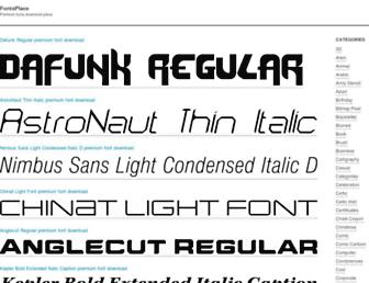 fontsplace.com screenshot