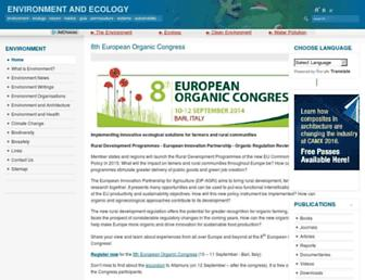 environment-ecology.com screenshot