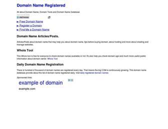 domain-name-registered.com screenshot