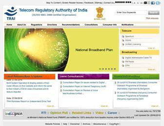 trai.gov.in screenshot