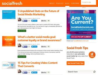 socialfresh.com screenshot