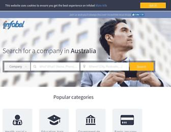 local.infobel.com.au screenshot