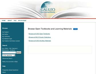 oer.galileo.usg.edu screenshot