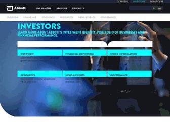 abbottinvestor.com screenshot