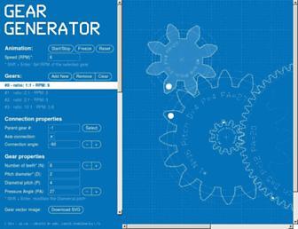 geargenerator.com screenshot