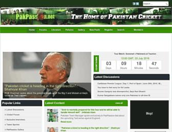 Main page screenshot of pakpassion.net