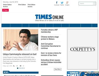Thumbshot of Sundaytimes.lk