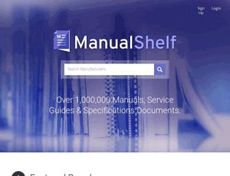 manualshelf.com screenshot