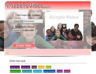 imagetovideo.com screenshot